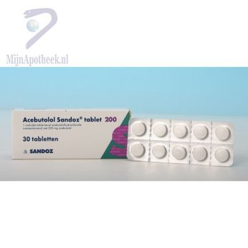 ACEBUTOLOL SANDOZ TABLET 200MG